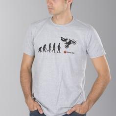 Sélection de T-shirts Sérigraphiés Moto en Promotion - Ex: Evolution Gris (Tailles au choix)