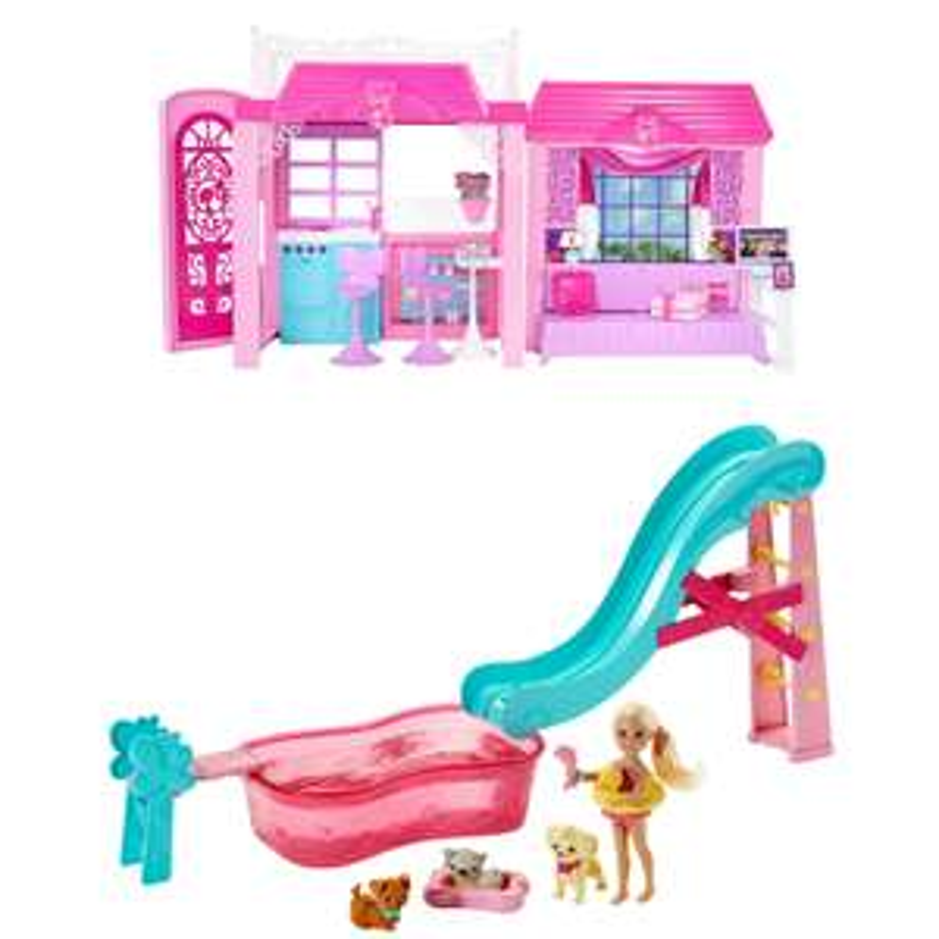Coffret Barbie CLC31 - La Maison de Vacances + Piscine de Chelsea