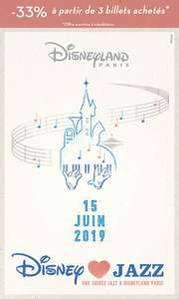 Billet accès coupe-file pour le concert Disney Loves Jazz (Dématérialisé) - à Disneyland Paris - Coupvray (77)