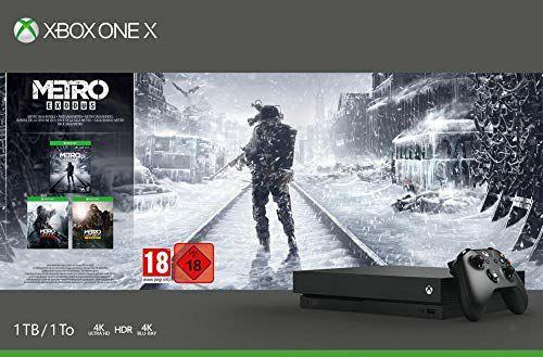 Console Microsoft Xbox One X 1 To + Metro Exodus Saga