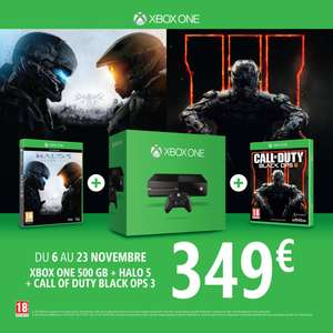 Console Microsoft Xbox One 500 G + Halo 5 + Call of Duty : Black Ops 3