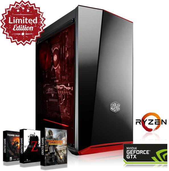 Ordinateur de bureau Gaming - AMD Ryzen 5 2600x (3,6 GHz), GTX 1070, 16 Go de RAM (DDR4 3000 Mhz)