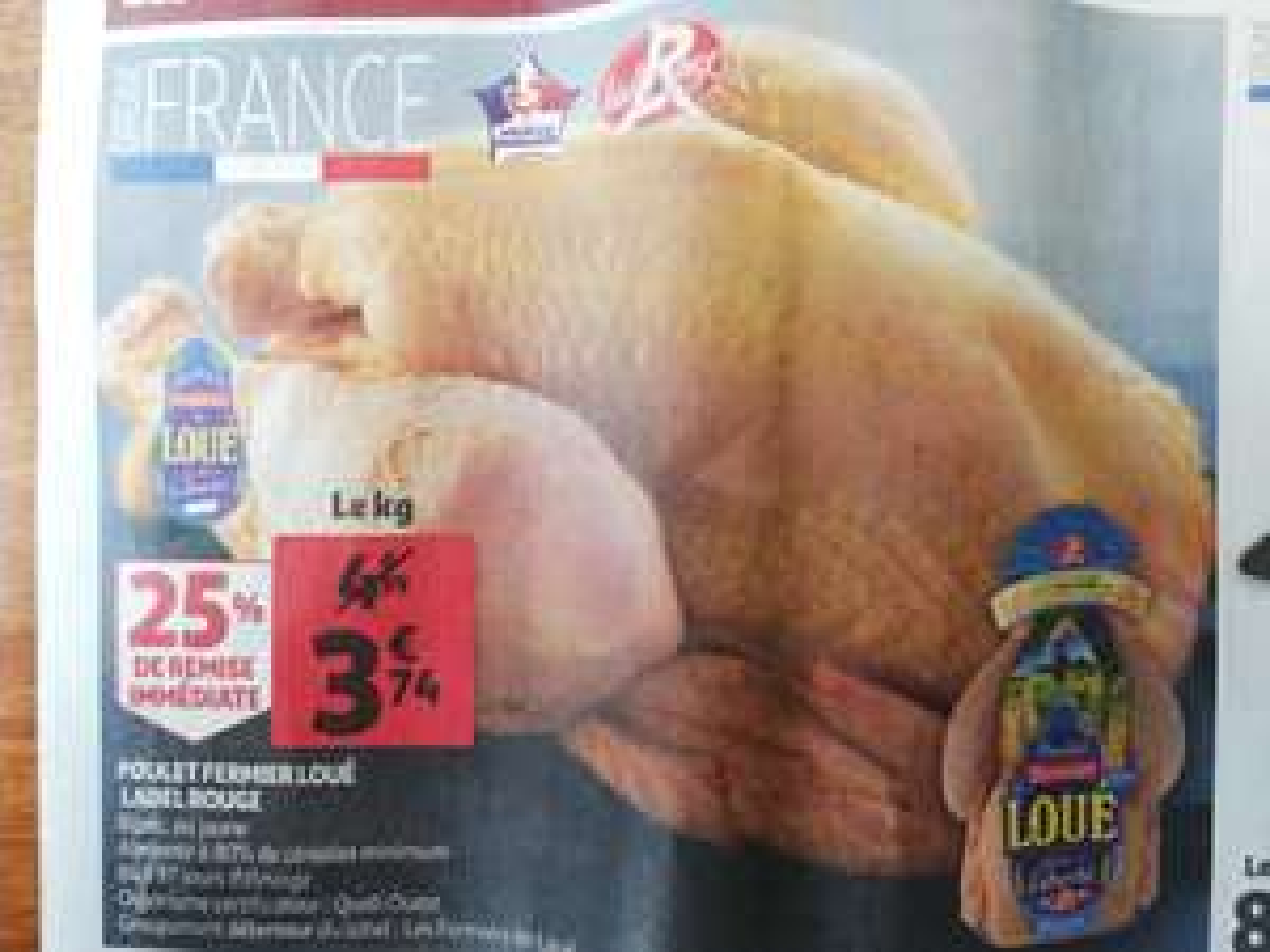 Poulet fermier Loué Label Rouge (blanc ou jaune, le kg) - Sceaux (92)