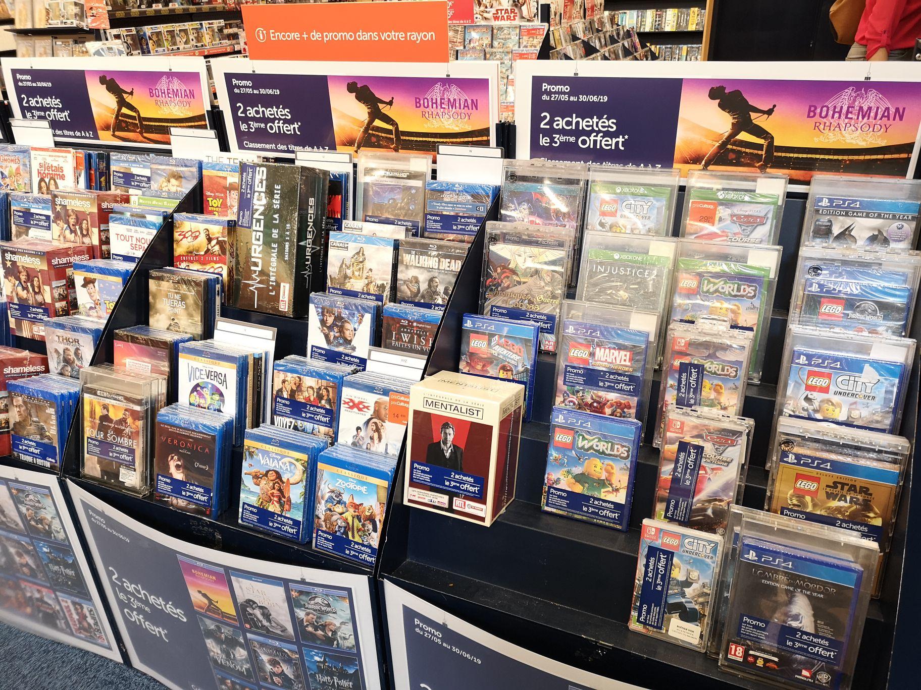 2 achetés = Ie 3ème offert sur une Sélection de jeux et Blu-ray/Blu-ray 4k