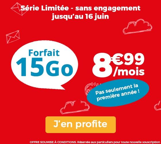 [Nouveaux clients] Forfait Mobile Auchan Télécom - Appels / SMS / MMS illimités + 15 Go de DATA (Sans Engagement - A vie