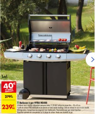 Barbecue à gaz Hyba HG400
