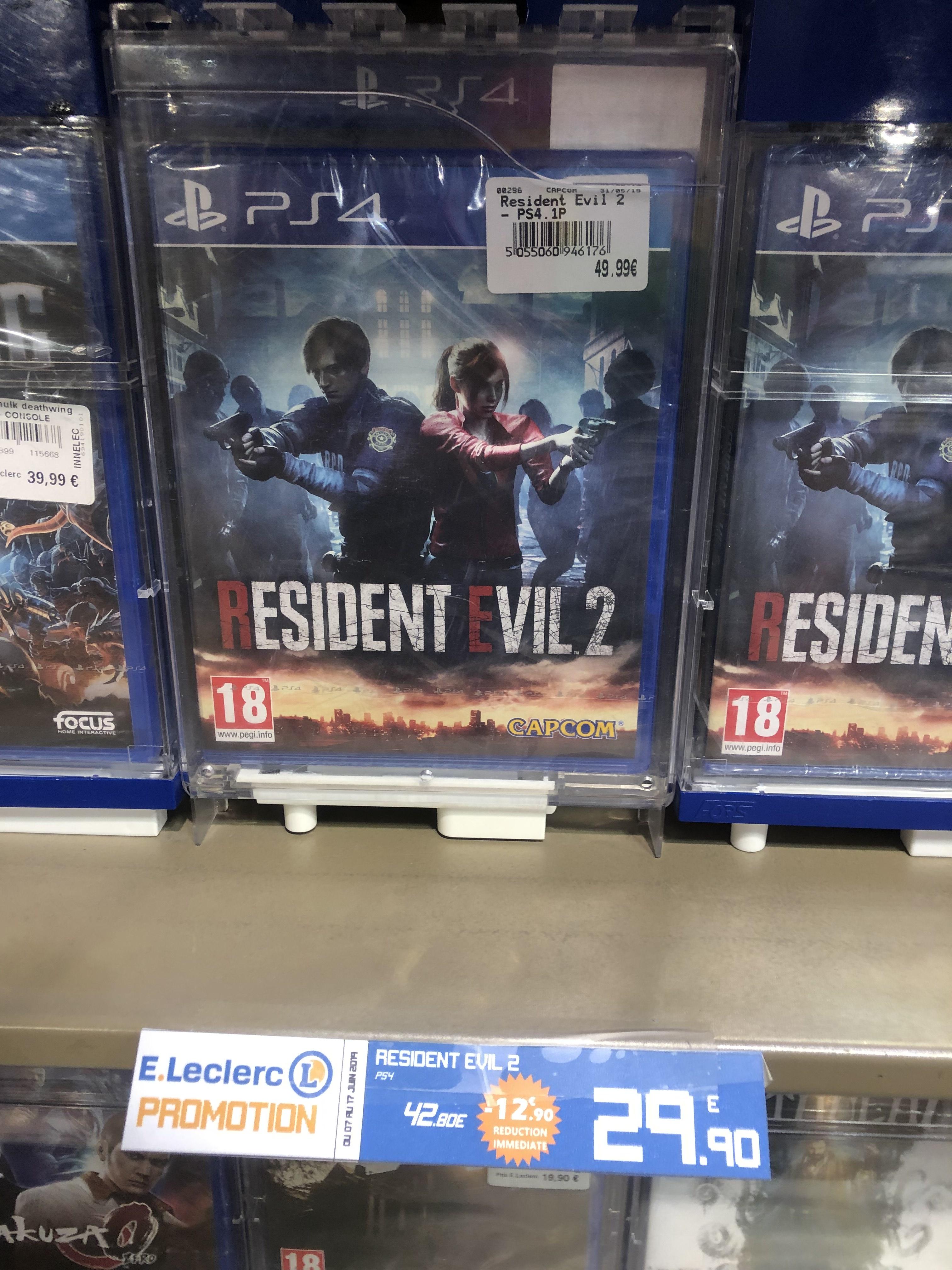 Resident Evil 2 sur PS4 - Leclerc National