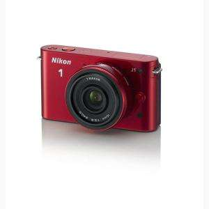 Appareil photo hybride NIKON 1 J1 rouge + 10mm