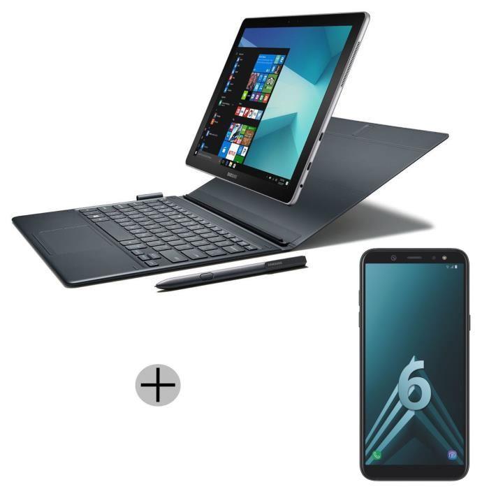 """Tablette 12"""" Samsung Galaxy Book (i5-7200U, RAM 4 Go, SSD 128 Go) + Smartphone 6"""" Samsung Galaxy A6+ Plus (Via ODR de 150€)"""
