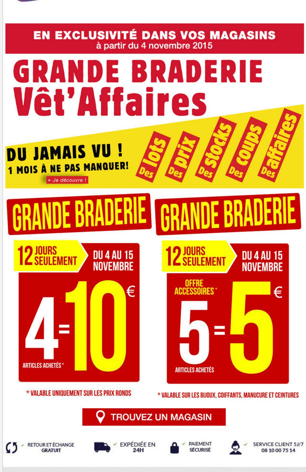 Braderie Vet'affaire - Ex : 4 Articles pour 10€ ou 5 Accessoires
