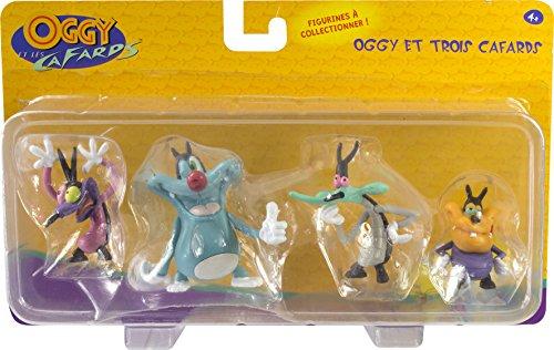 Lot de 4 figurines Oggy et les cafards