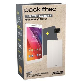 """[Adhérents] Pack Tablette 8"""" Asus Z380CX-1B014A 16 Go WiFi Blanc + Housse + Carte Mémoire micro SDHC - 16 Go"""