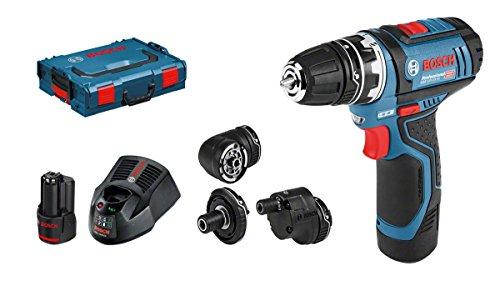 Perceuse-visseuse Bosch GSR 12 V FLEXICLIC + 2x 2Ah+ L-BOXX + Chargeur rapide+ Dragonne