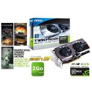 Carte graphique - MSI GTX 660 - Twin Frozr 3 - 2Go DDR5