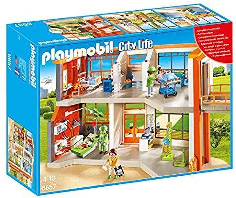 Jouet Playmobil - Hôpital pédiatrique aménagé (6657)