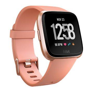 Montres connectée de sport Fitbit Versa - Rose Gold/Peche