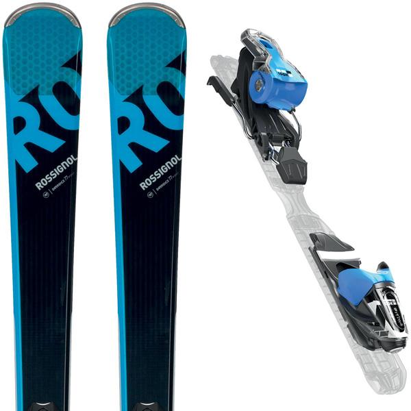 891ec932334a05 Pack paire de skis polyvalents Rossignol Experience 77 Basalt 2018 (bleu /  noir) +