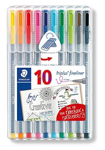 Sélection de marqueurs et feutres en promotion - Ex: Étui de 10 feutres différentes couleurs 0,3mm