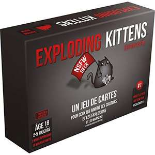 Jeu de société Exploding Kittens - Version NSWF, En français (Vendeur Tiers)