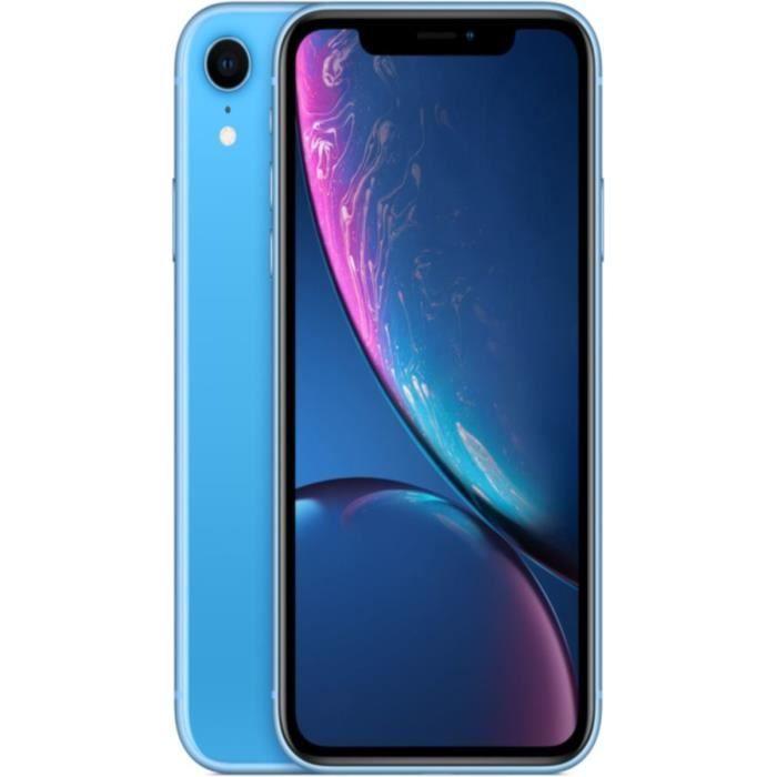 """[CDAV] Smartphone 6.1"""" Apple iPhone Xr - HD+, A12, 3 Go de RAM, 128 Go, bleu"""