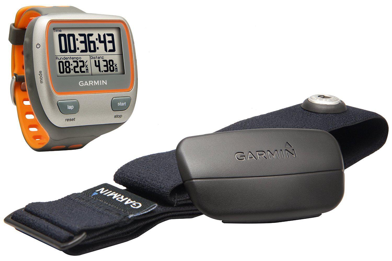 Montre GPS Multisports Garmin Forerunner 310XT avec ceinture cardio - Orange/Gris