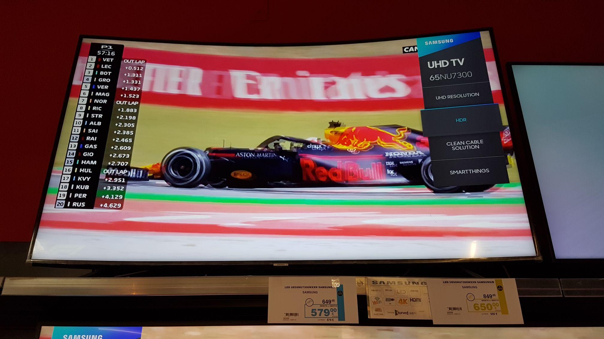 TV Led 65'' Samsung UE65NU7300 - 4K UHD Incurvée - Hornu (Frontalier Belgique)
