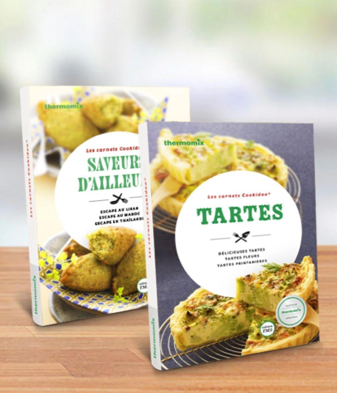 """Pack de 2 carnets """"Saveurs d'ailleurs"""" et """"Les tartes"""""""