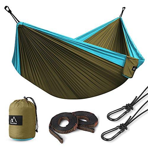 Hamac de Camping en nylon à parachute Terra Hiker - avec 2 Mousquetons et 2 Sangles (vendeur tiers)