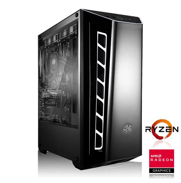 PC de bureau gamer - AMD Ryzen 5 2600, 16 Go DDR4, RX VEGA 56, 240 Go SSD, Sans Windows
