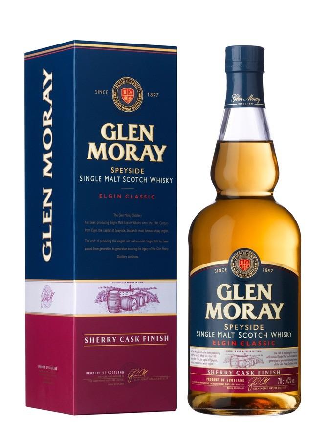 1 bouteille de Whisky Glen Moray Single Malt Sherry Cask Finish - 70 cl (via 7.50€ sur la carte)