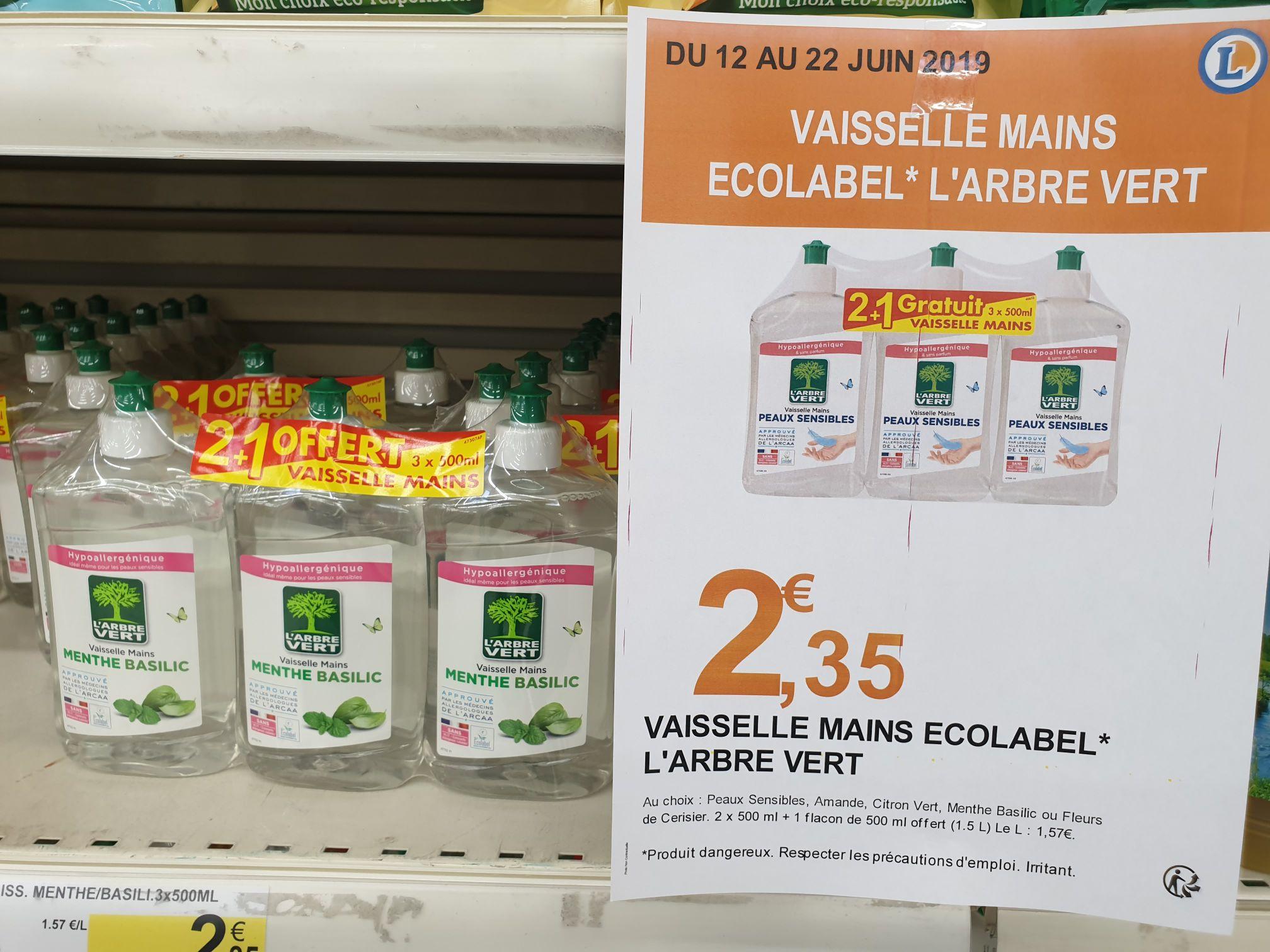 3 Liquide vaisselle l'Arbre Vert - 500ml - Orly (94)