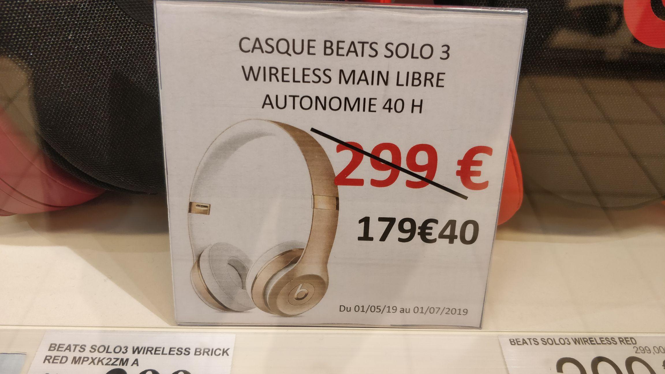 Casque bluetooth supra-aural Beats Wireless - Bois Sénart (77)