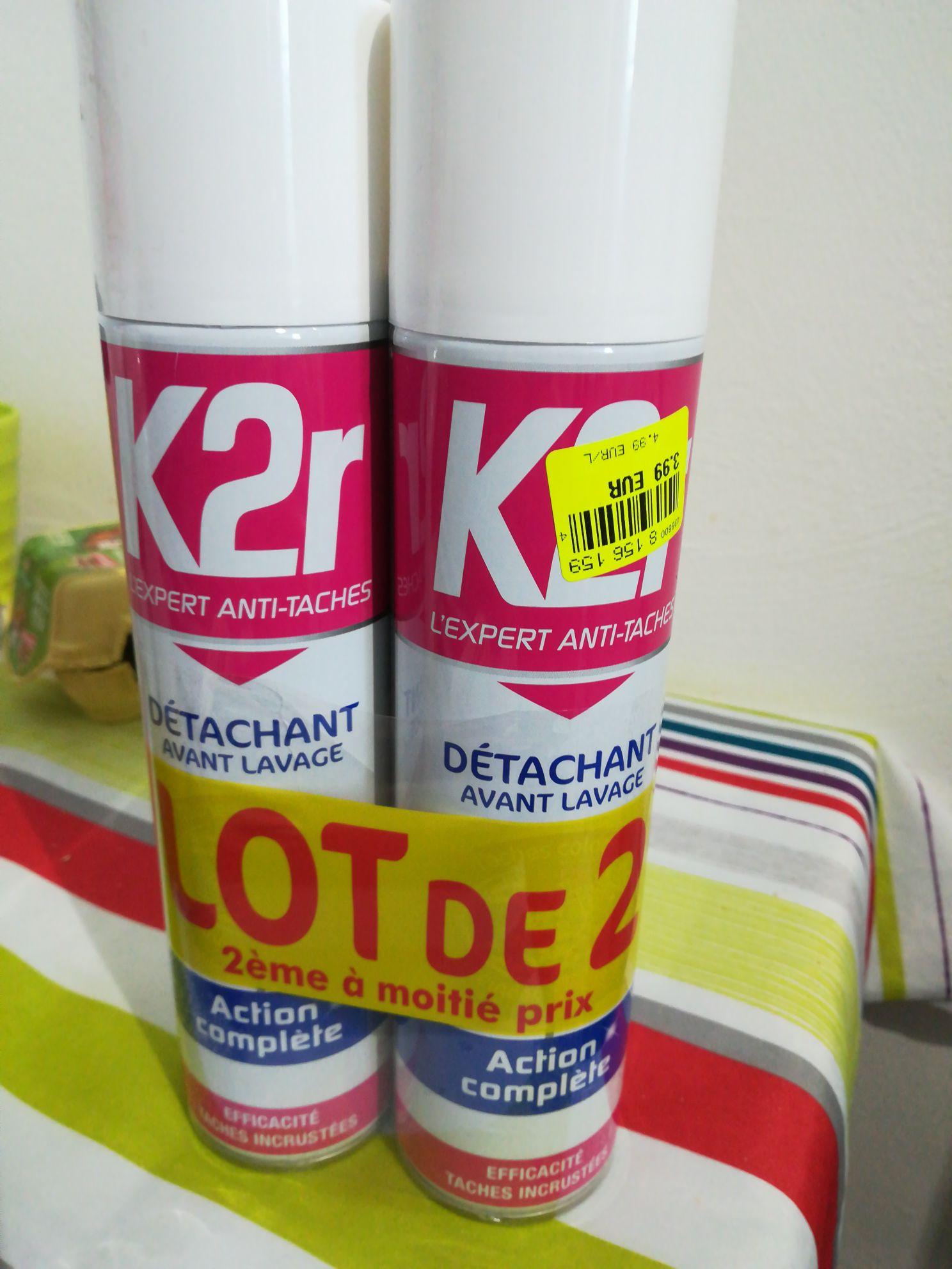 Lot de 2 détachants avant-lavage en spray K2R (2x400 ml) - Cormontreuil (51)