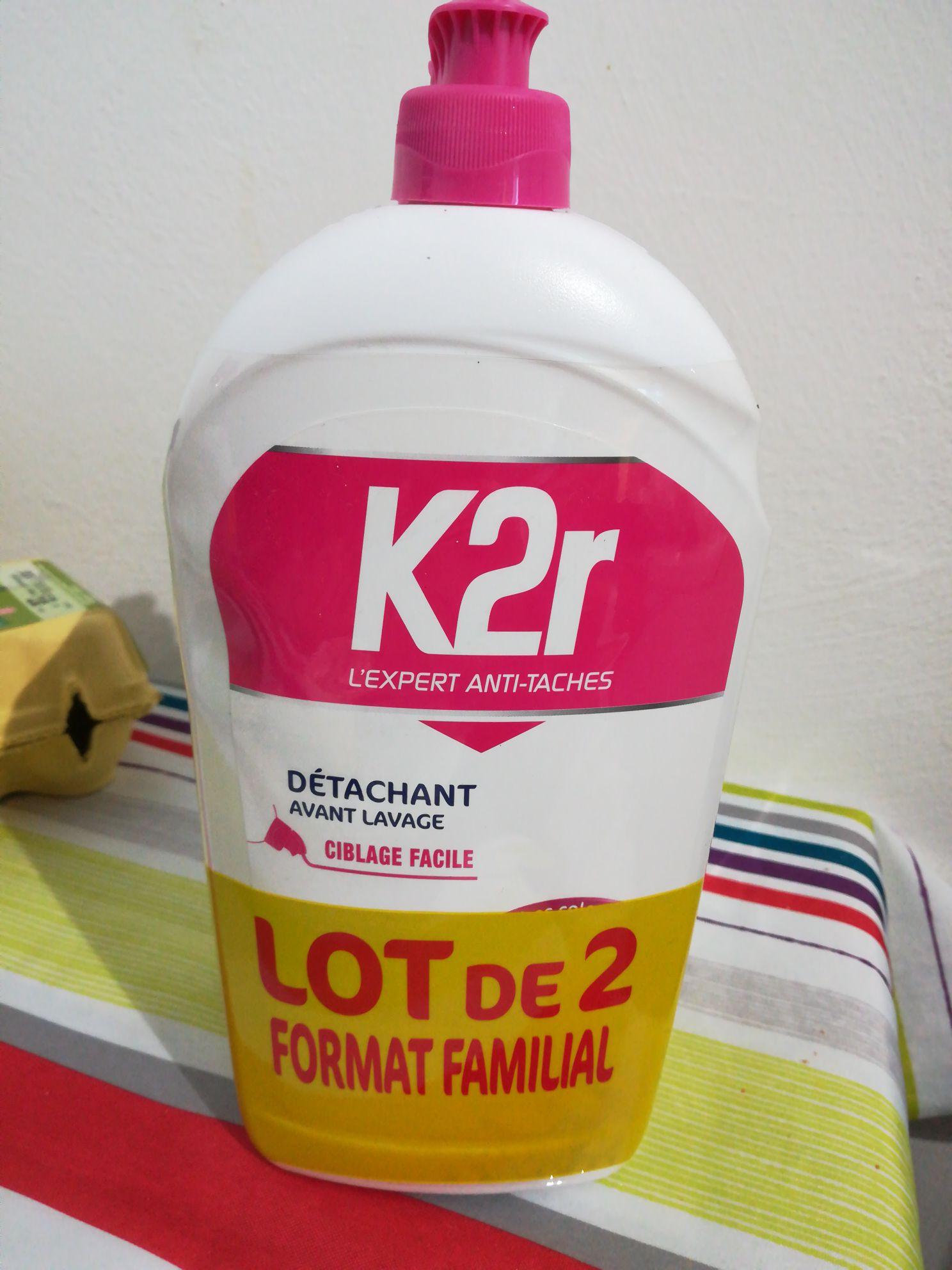 Lot de 2 détachants avant-lavage K2R (2x750 ml) - Cormontreuil (51)
