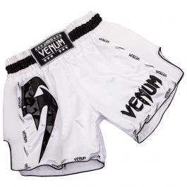 Short de boxe Thaïlandaise Venum Giant - Taille au choix, Blanc/noir