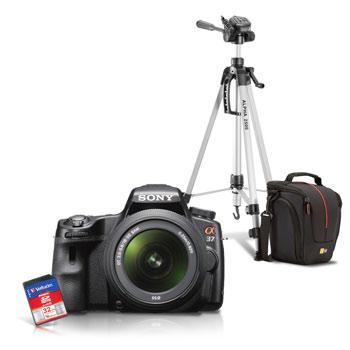 Appareil photo reflex Sony Alpha 37 + DT 18-55mm + Sacoche Case Logic + Carte SDHC 32 Go Verbatim + Trépied Cullman