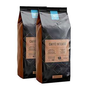 Lot de 2 sachets de café torrégié en grains Happy Belly Caffè Intenso - 2x500 g