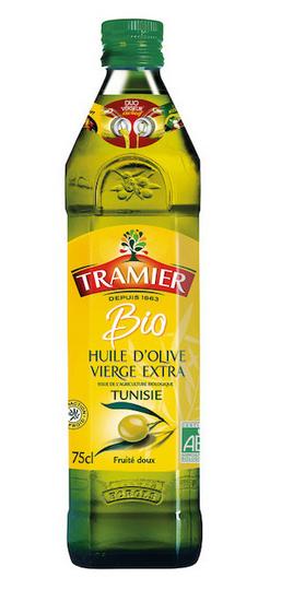 2 Bouteilles d'Huile d'Olive Bio Tunisienne Tramier - 2 x 75cl (via Shopmium)