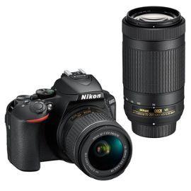 Appareil photo reflex Nikon D5600 + Objectifs AF-P DX 18-55 + 70-300 VR (+ 90€ en SuperPoints)