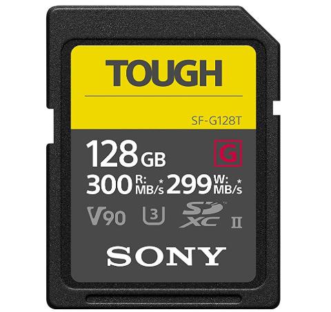 Carte mémoire Flash SDHC Sony Tough, UHS-II - 128Go
