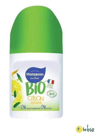 Deodorant bille Monsavon Bio - Plusieurs variétés (via BDR carte Leclerc + BDR + Quoty)