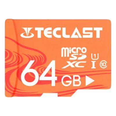 Sélection de cartes mémoires MicroSD Teclast en pormotion - Ex: Carte mémoire UHS U1 - 64 Go