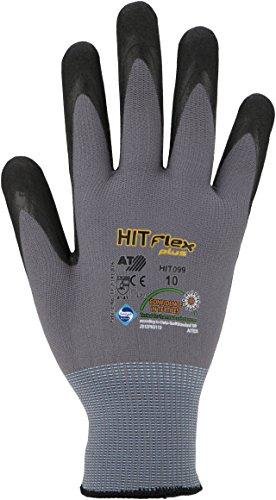 [Panier Plus] 10 paires de gants bricolage Nitril Asatex HIT099 (Taille 10)