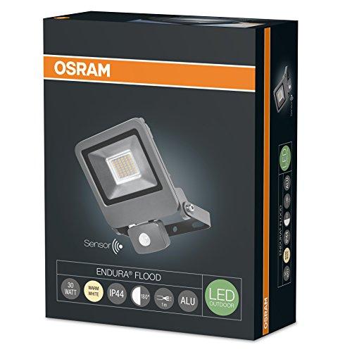 Projecteur Extérieur LED Osram Endura Flood - Détecteur de Mouvement -  IP44, 30W, 2400 lumen, Orientable 180°