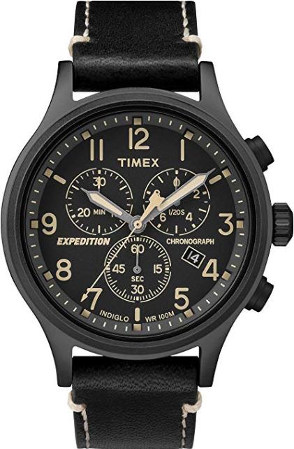 Montre Timex Expedition Scout Chrono - 42 mm, 10 ATM, Noir