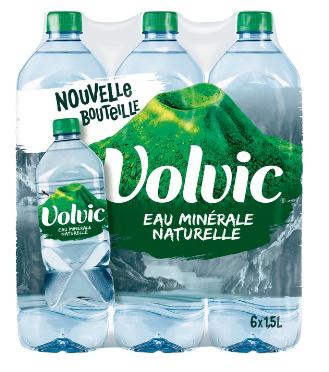 3 Packs d'Eau minérale naturelle Volvic - 6 x 1.5L