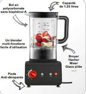 Blender Bodum Bistro 1,25L - Rouge ou Blanc
