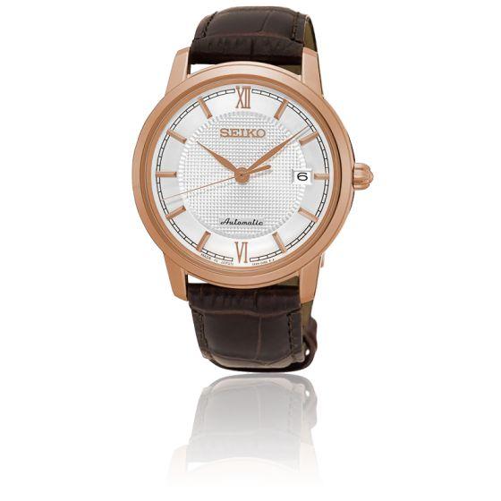Montre automatique Seiko Presage SRPA16J1 - bracelet en cuir, marron