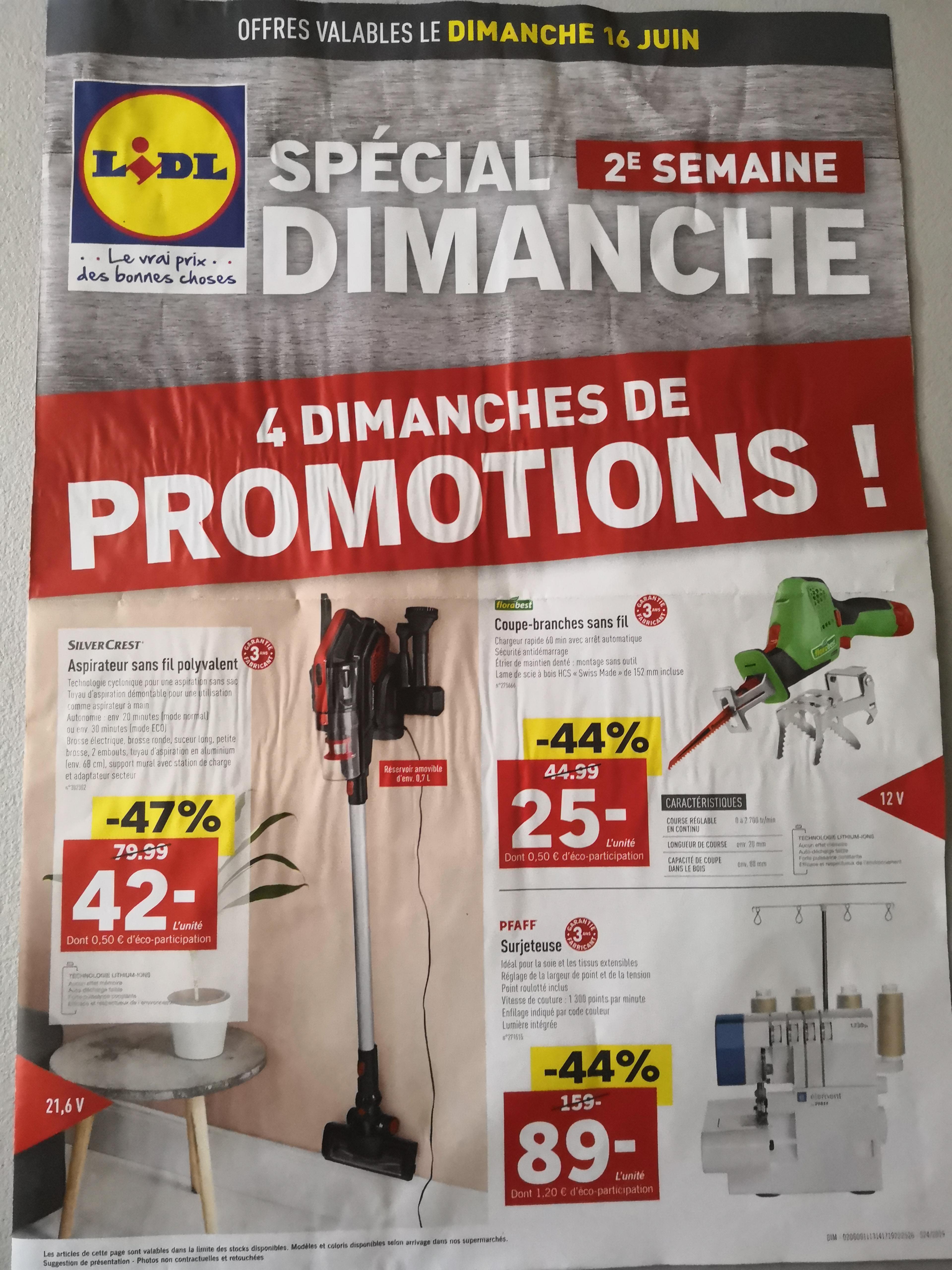 Sélection de produits en promotion - Ex: Coupe-branches sans fil Florabest