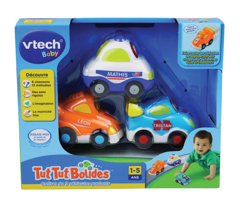 Coffret de 3 véhicules Vtech Tut Tut Bolide